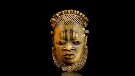 16th century Benin Ivory Pendant Mask