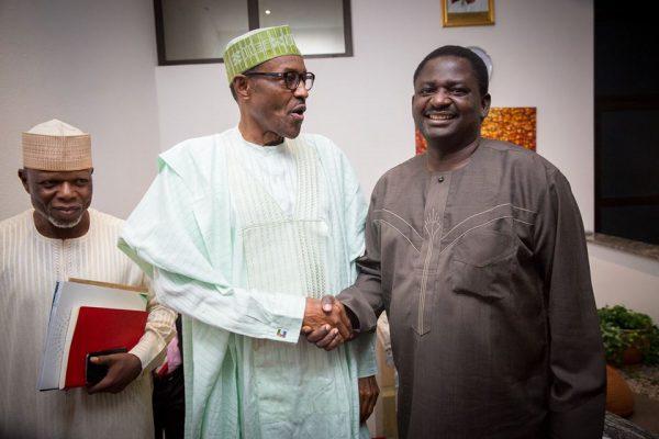 President Muhammadu Buhari with Mr. Femi Adesina