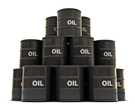 Group of Oil Drums