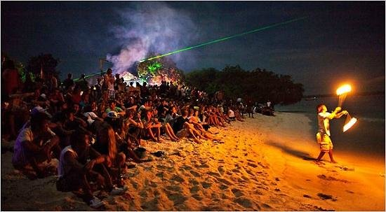 Late night fun and party at the Port Harcourt Beach