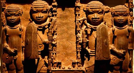 Benin brass plaques