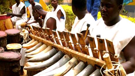 Kaduna cultural festival - Musicians playing the Duma, Conga and Xylophone
