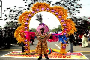 Colourful display at Calabar carnival