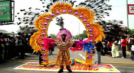 Colourful display at Calabar carnival