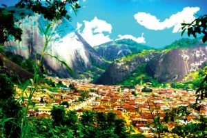 The iconic Idanre hills where the panoramic view of the town could be observed