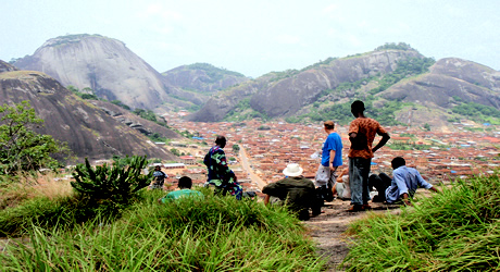 Tourists at Idanre hills, Ondo State