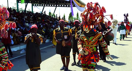 Traditional dancers from Anambra State