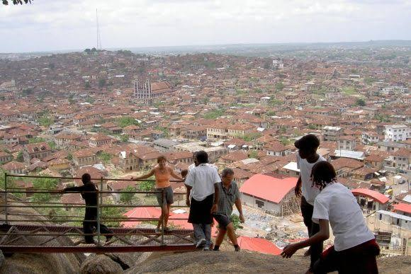 A view of Abeokuta from the Rock top